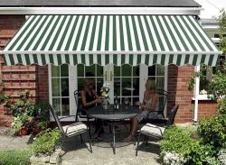BIRCHTREE Awning 2.5 x 2m A02 Green & White