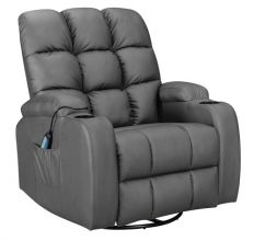 WestWood Massage Leather Sofa Electric WW-MLS12 Grey