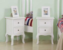WestWood Bedside Cabinet Unit BCU12 White 1 Pair