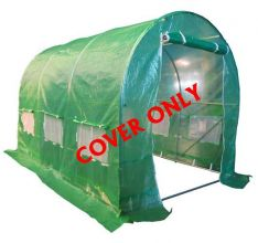 BIRCHTREE 3M(L) x 2M(W) x 2M(H) Polytunnel Greenhouse Pollytunnel 3 Section Cover Only