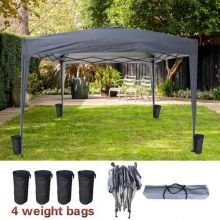 BIRCHTREE Pop Up Gazebo 3Mx3M No Side PUG02 Grey