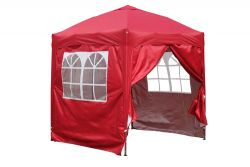 BIRCHTREE Pop Up Gazebo 2X2M Red