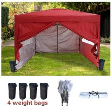 BIRCHTREE Pop Up Gazebo 3X3M Red