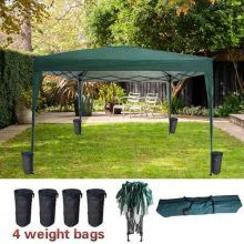 BIRCHTREE Pop Up Gazebo 3Mx3M No Side PUG02 Green