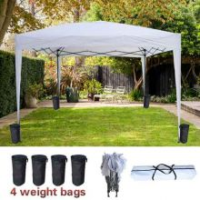 BIRCHTREE Pop Up Gazebo 3Mx3M No Side PUG02 White