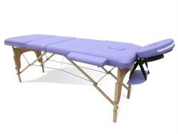 WestWood Massage Table Beauty Couch Bed Folded 3 Section Wooden Frame Purple
