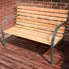 BIRCHTREE Wood Slatted Garden Bench BT-WGB05 Natural