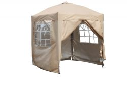 BIRCHTREE Pop Up Gazebo 2X2M Beige