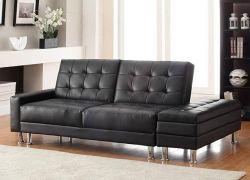 WestWood PU Sofa Bed With Storage PSB04 Black