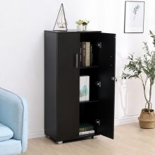 WestWood Office Cupboard 3 Shelf OC01 Black