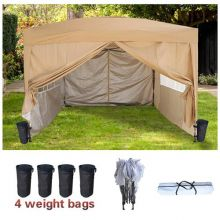 BIRCHTREE Pop Up Gazebo 3X3M Beige