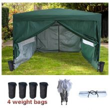BIRCHTREE Pop Up Gazebo 3X3M Green