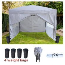 BIRCHTREE Pop Up Gazebo 3X3M White
