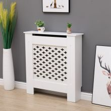 WestWood MDF Radiator Cover Cross Small White