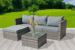 BIRCHTREE Rattan Furniture Set RFS01 Grey