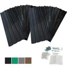 BIRCHTREE 12x Metal Roof Sheets 129x45cm WW-RSS01 Black