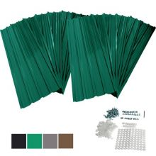 BIRCHTREE 12x Metal Roof Sheets 129x45cm WW-RSS01 Green