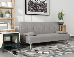 WestWood Fabric Chunky Sofa Bed Grey