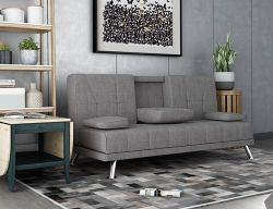 WestWood Fabric Manhattan Sofa Bed Grey