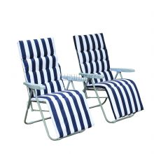 BIRCHTREE Sun Recliner With Cushion SR01 Blue