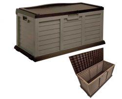 Starplast Cushion Box With Sit-On Lid 14-811 Chocolate and Mocha