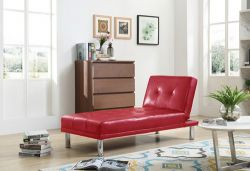 WestWood PU Single Sofa Bed PSB03 Red