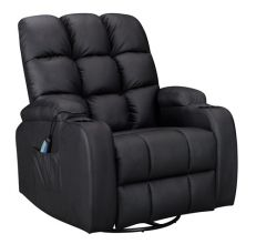 WestWood Massage Leather Sofa Electric WW-MLS12 Black