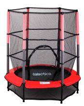 GALACTICA Trampoline Set 4.5FT Red