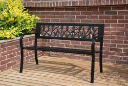 BIRCHTREE Garden Bench Steel Tulip Style C073 Black