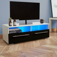 WestWood High Gloss LED TV Cabinet TVC04 Black