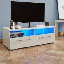WestWood High Gloss LED TV Cabinet TVC04 White