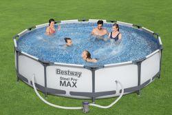 BestWay Steel Pro Frame Swimming Pool Set Round 12ft x 30inch BW56416