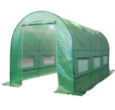 BIRCHTREE 4M (L) x 2M (W) x 2M (H) Polytunnel Greenhouse Pollytunnel Galvanised Frame