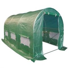 BIRCHTREE 4M (L) x 2M (W) x 2M (H) Polytunnel Greenhouse Pollytunnel Galvanised 25mm Frame