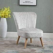 WestWood Crush Velvet Accent Chair 1300 Cream
