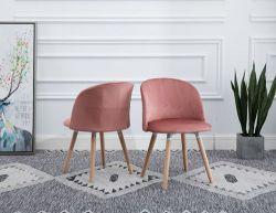 WestWood Velvet Dining Chair DCF08 1 Pair Pink