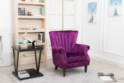 WestWood Crush Velvet Armchair 8003 Purple