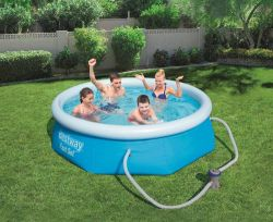BestWay Fast Set Swimming Pool Set Round Inflatable 8ft x 26inch BW57268