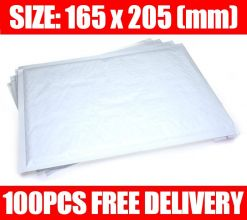 100 Quality White Padded Bubble Post Mailing Envelopes 165 x 205 mm Mailers