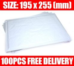 Quality White Padded Bubble Envelopes 195 x 255mm x 100