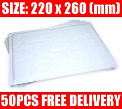 50 Quality White Padded Bubble Post Mailing Envelopes 220 x 260 mm Mailers