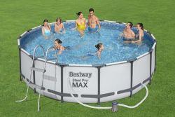 BestWay Power Steel Frame Swimming Pool Set Round 16ft x 48inch 5612Z